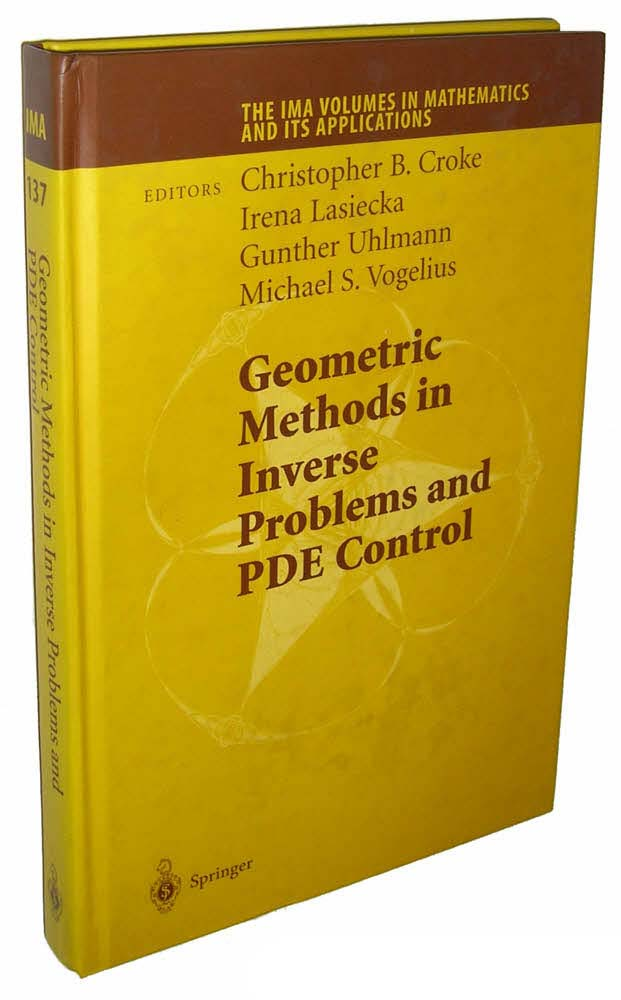 Geometric Methods in Inverse Problems and PDE Control (The IMA Volumes in Mathematics and its Applications)
